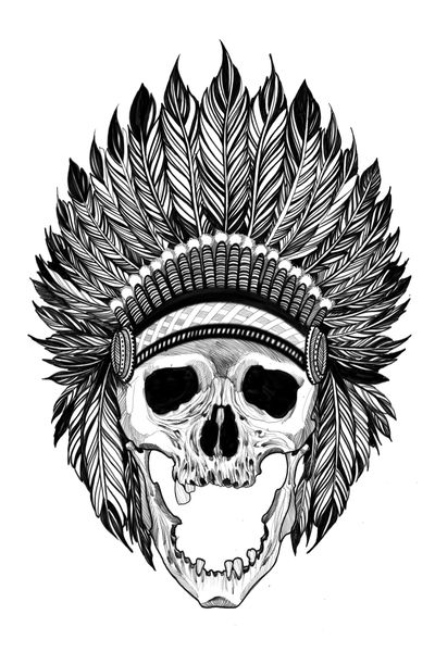#Indian blackwork #skulltattoo #skull #tattooartist #tattoo2me #tattoodo #blackwork