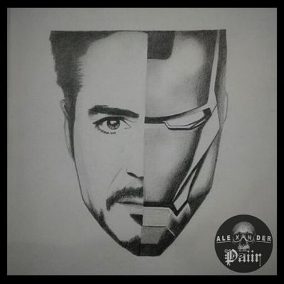 ~ Iron Man 🔥@PaiirStudio #Drawing #IronMan #Portrait #Art #TonyStark