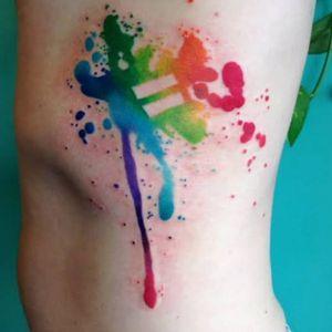 #rainbow #watercolour #rainbowtattoo #colourtattoo #pride #lgbti #sogay