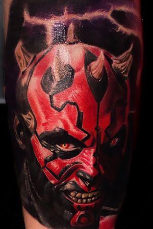 #darthmaul #darthmaultattoo #colortattoo #realism #tattooartist #tattoo #AlanRamireztattooartist