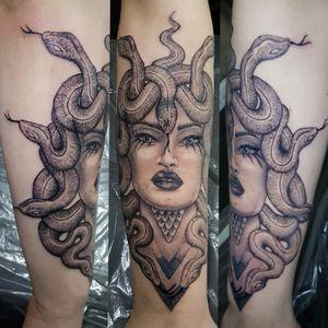 #blackworktattoo #medusa #snake #tattoo #berlintattoo #tätowierung