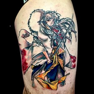 Lord Sesshomaru from Inuyasha.  #anime #tattoo #miami #ink #inklife #southbeach #line #watercolortattoo #colortattoo #fanart #cartoon #japanesetattoo #lordsesshomaru #inuyasha #miamibeach