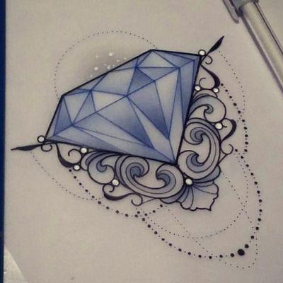 Diamonds are a girls best friend. By Sophie Adamson. #diamondtattoo #diamond #diamondlover #diamondsketch #jewel #jewels #jewelry #blingbling #shine #bright #bluediamond #blueink #illustration #sketchbook #flashart #flashsheet #dots #dotworktattoos #fineline #filigran #finework #blacklines #whiteink #blackinktattoo #glitter #shiny #ornamental #ornamentaltattoo #neotraditional #newschool #ornaments #mandalaart #amazingink #amazingartist #girly #feminine #beautifultattoo