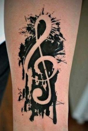#music #blackAndWhite #cooltattoo