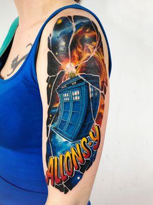 #drwho #tardis #galaxy #sleevetattoo #colourtattoo #tattooart #tattooartist #timetravel