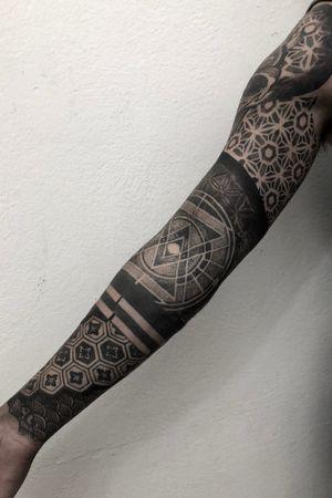 John's sleeve.