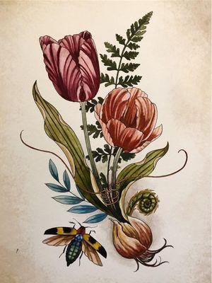 Art by Alice Kendall of Wonderland PDX #AliceKendall #Wonderland #Portland #color #nature #biological #flower #floral #plant #plantlife #ecology #biologicalillustration #illustrative #botanicalillustration