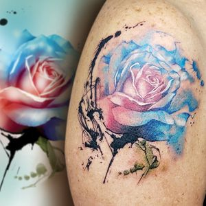 flower watercolor rose.