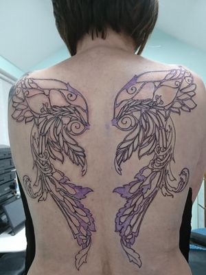 First sitting on Fairy wing back piece