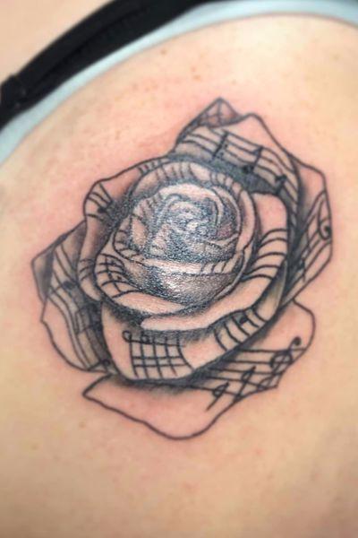 #Music #Notes #Flower #Rose