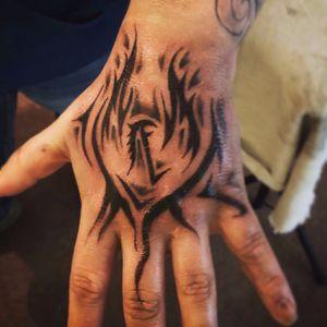 #Phoenix #Hand #Black #Gray