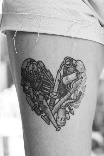 Healed one #heart #weapon #war #love #gun