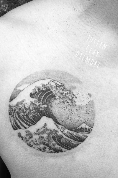 #justinclaydilmore #wavetattoo #wave #watercolortattoo #dotwork #dotworktattoo #blackwork #blackworker #blackworkers #tattoo #tattooartist #blackworktattoo #tattoooftheday #tattooart #art