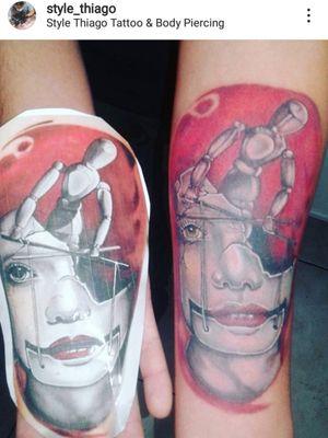 Tattoo surreal estudo colorida