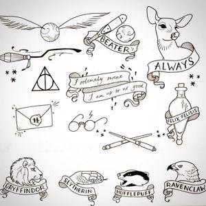 Sweet littleone's. #ArtistUnknown #unknownartist #pinterestinspiration #cutelittletattoo #quidditch #goldensnitch #gryffindor #ravenclaw #slytherin #hufflepuff #tattoosheets #tattooflash #tattoosketch #sketchbook #sketches #harrypotter #harrypottertattoo #tattooinspiration #PotterHead #harrypotterfans #harrypotternerd #harrypotterglasses #magical #magic #magicwand #deadlyhallows #nerdgirl #nerdytattoo #geektattoos #felixfelicis #maraudersmaptattoo #marauders #hogwarts #hogwartsletter #always #afterallthistimealways #bookworm #blackline #linework #fineline #glasses #loveit