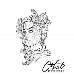 Medusa ! Tattoo design available ! Message me for details. @coltobst