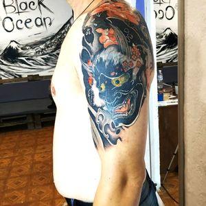 Cover up #tattoo #tattooart #irezumi #irezumitattoo #onidemon #onitattoo #japanese #japanesetattoo