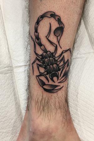 Traditional scorpion #tattoo #traditional #kodjowild #traditionaltattoo #trad #neotraditional #neo #tattoos #tatts #tttism #inked #apprenticetattoo #wip #tattoist #tattooideas #tattoomodel #tattooartist #tattooflash #likeforfollow #tattoolife #tattooart #darkartists