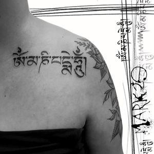 #mark29#tibetan#mantra#MantraTattoo#calligraphy