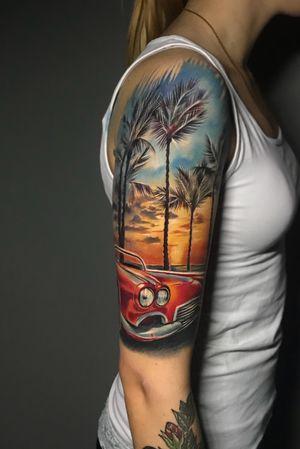 🌴 #tattoo #ink #tattooed #tattoosociety #tattooart #rigatattoo #amazingtattoos #татумастер #inked #tattooartist #tattooaddict #besttattoos #skinart_mag #skinink #tattoodo #tattoolife #тату #inkedup #skindeep #sullentv #татуировка #freshlyinked #colortattoo #realistictattoo