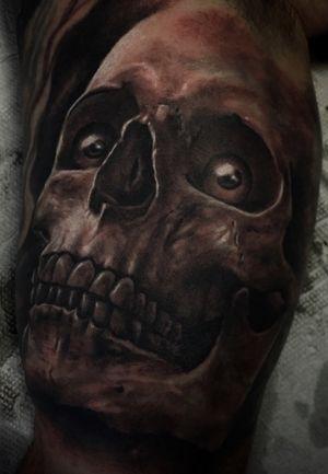 #blackandgrey #realism #realistic #skull #eyes #floridatattooartist