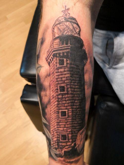 #lighthouse #lighthousetattoo #blackandgraytattoo