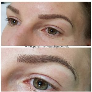 Tattooed brows #cosmetictattoo #brows #tattooedbrows #permanentmakeup #tattooedmakeup #cosmetictattooing #tanyabuxton