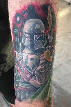 My 2nd tattoo. Bobba Fett #starwars #bobbafett