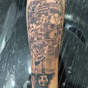Favela tattoo #tattoofavela #favelatattoo #favelaink #favela #futebol #futeboltattoo #soccertattoos #soccer #tattooquebrada #