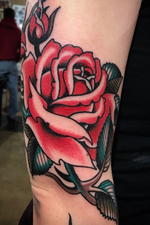 Rose! #traditional #oldschooltattoo #rose