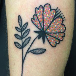 Tattoo by Meg Tuey #MegTuey #flowertattoos #flowertattoo #flower #floral #nature #plant #illustrative