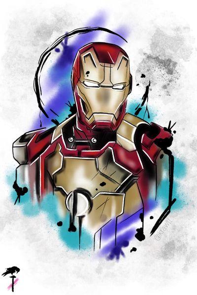 Mister Stark #color #neotraditional #marvel #stark #ironman