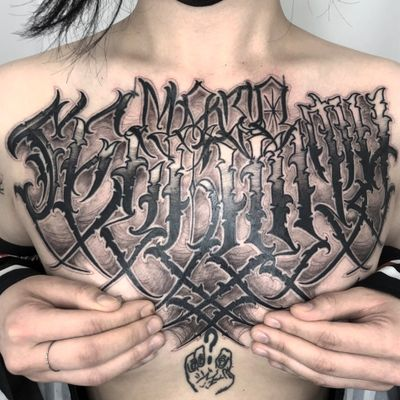 #tattooart #Korea #Seoul #black #blackwork #blackworktattoo #blackandgrey #color #chicano #lettering #custom