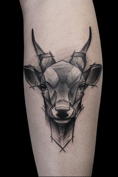#sketch #sketchtattoo #animals #deer #deertattoo #trash