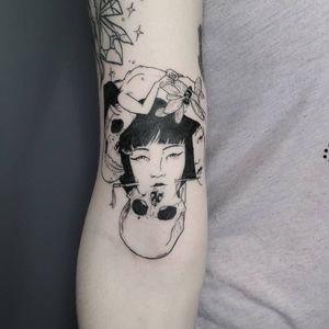 Tattoo by Savshimi #Savshimi #eroguro #erogurotattoo #Eroguronansensu #Japanese #Japanesetattoo #anime #manga #illustrative #graphicart #comicbook #comicart #linework