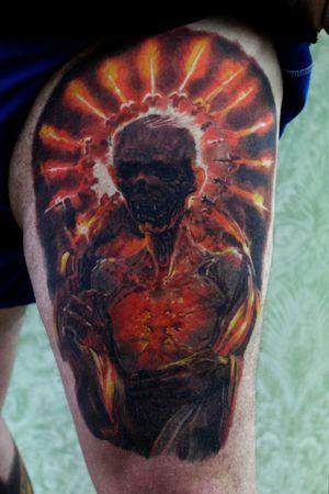 2 years old this antichrist!!!!!! #healedtattoo #tattoo #tattoos #tattoogirls #tattoogirl #tattoobabe #tattooartist #tattooart #tattooer #tattooink #tattooist #tattoolove #tattoomagazine #tattoolife #inked #ink #inkedgirls #inkedgirl #inkaddict #inkedmag #inkedandsexy #inkstagram #inkedbabes #inkedmodel #inkedup #facetattoo #tattoosleeve #necktattoo #legtattoo