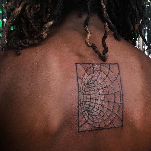 Tattoo by Roxann8roxann #roxann8roxann #TannParker #InktheDiaspora #portal #cyberpunk #linework #qpocttt #poctattoo #qpoctattoo #brownskin #blackskin #empower #visibility #tattoocommunity