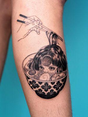 Tattoo by Oozy #Oozy #eroguro #erogurotattoo #Eroguronansensu #Japanese #Japanesetattoo #anime #manga #illustrative #graphicart #comicbook #comicart #linework