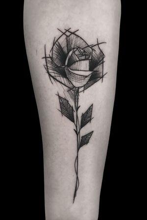 #rose #rosetattoo #sketch #sketchtattoo #flowertattoo