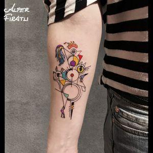 Town Musicians of Bremen... . #townmusiciansofbremen #brothersgrimm #geometrictattoo #geometric #colortattoo #colorful #minimal #tattoo #tattooartist #tattooidea #art #tattooart #tattoooftheday #ink #inked #customtattoo #customdesign #tattooist #dotwork #tattooisartmag #tattoo_artwork #linework #surreal #surrealism #pettattoo #cubism #abstracttattoo #abstractart #animaltattoo #surrealart