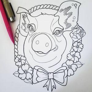 #pig  #pigtattoo #flash