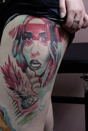 #tattoo #ta2 #TA2BODY #tattooartist  #color #lizache #neontattoo #girltattoo #portrait