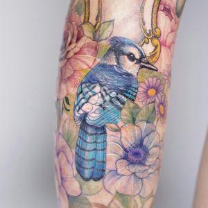 #birdtattoo #tattoo #colortattoo #koreatattoo  #flowertattoo #tattooartist