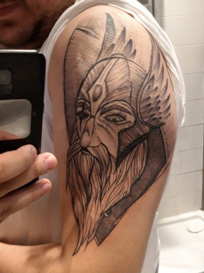 Odin #odin #norsemythology #NorseTattoos #NordicTattoo #nordicgod #thor #mythologytattoo