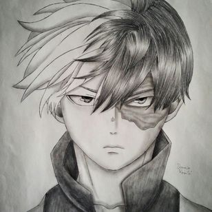 Shoto Todoroki from my hero academia by Dounia Rhaiti