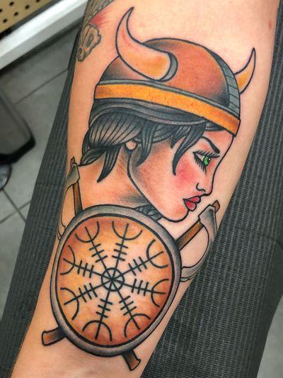 #viking #shield #axe #compass #warrior