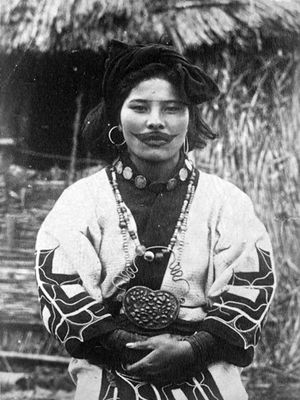 Ainu woman with lip tattoo #Ainu #liptattoo #ancientbodymodifications #bodymodifications #bodymods #tribal