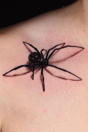 Spider🕷: #spider #blackandgrey #inked #realism #Tattoodo