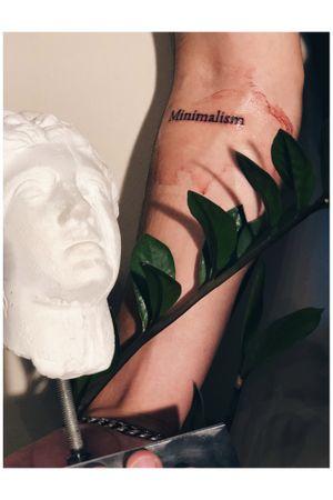 Minimalism Clean Artwork #minimalism #minimalist #minimalistic #tattoo #gangsta #gangstatattoo #greece #thessaloniki #ampelokipoi #greekstatue #statue