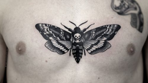 Death moth #deathmoth #blackworktattoo #deathmothtattoos #blackartist